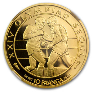 1988 Tonga 1/2 oz Proof Gold Seoul Olympics PF-69 NGC