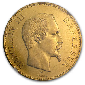 French Gold 100 Francs (Napoleon III) (AU-55 NGC)