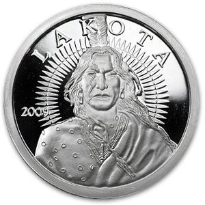 1 oz Silver Rounds - Lakota (Crazy Horse)