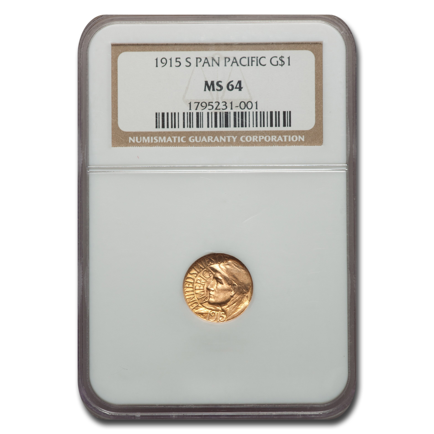 1915-S Gold $1.00 Panama-Pacific MS-64 NGC