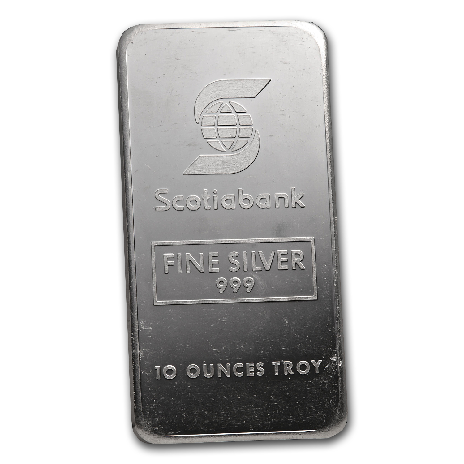 10 oz Silver Bar - Johnson Matthey (Made for Scotiabank)