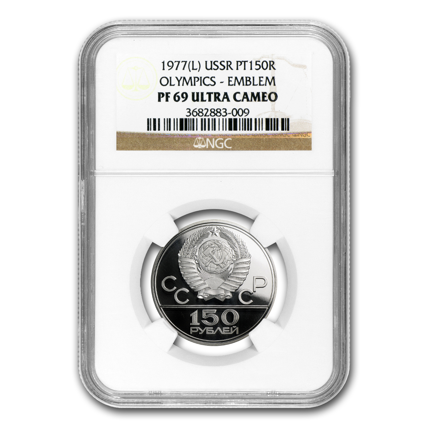 1977 Russia Platinum 150 Roubles PF-69 NGC (Olympics)
