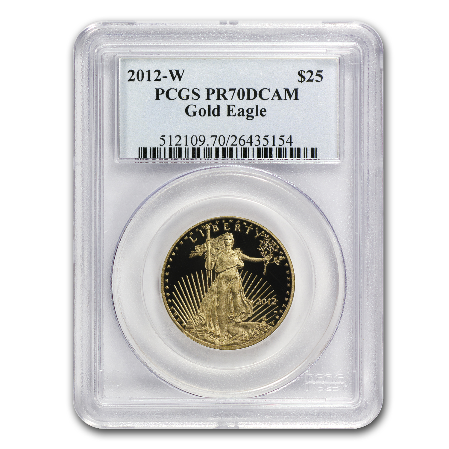 2012-W 1/2 oz Proof Gold American Eagle PR-70 PCGS