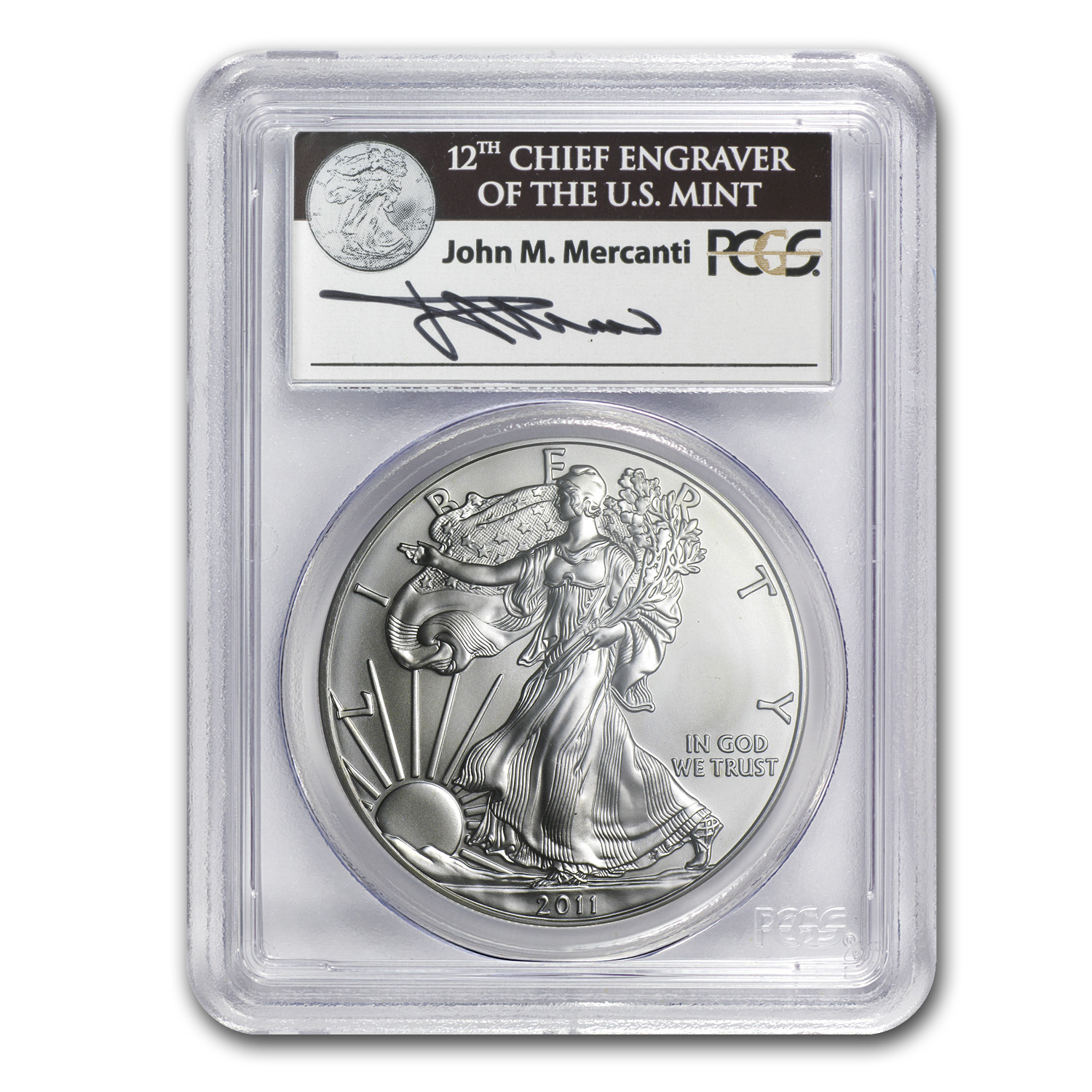 2011-S 1 oz Silver Eagle MS-69 PCGS 25th Anniv (FS)