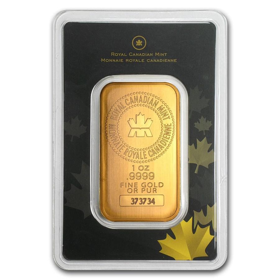 Royal Canadian Mint 1 Oz Gold Bar For Sale Rcm Gold