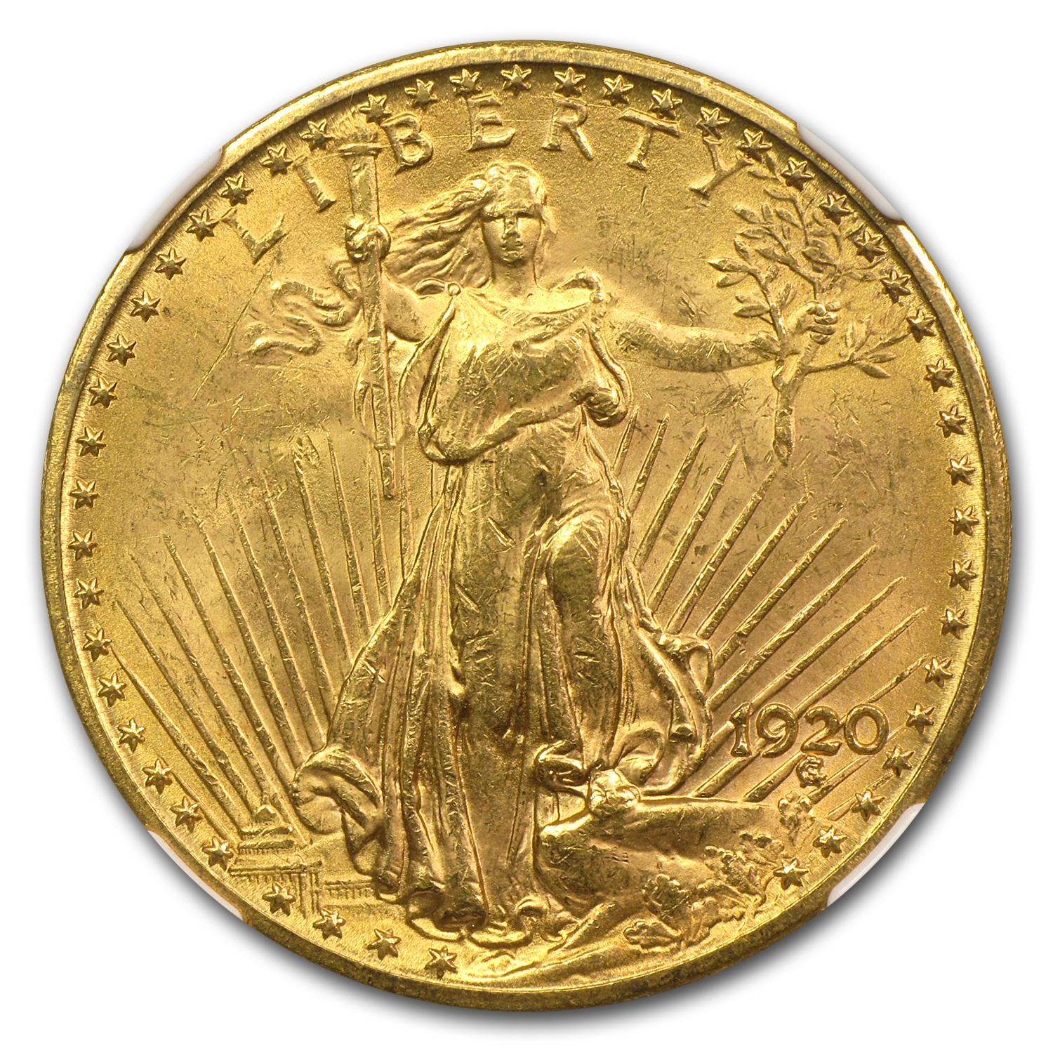 1920 $20 St. Gaudens Gold Double Eagle MS-63 NGC