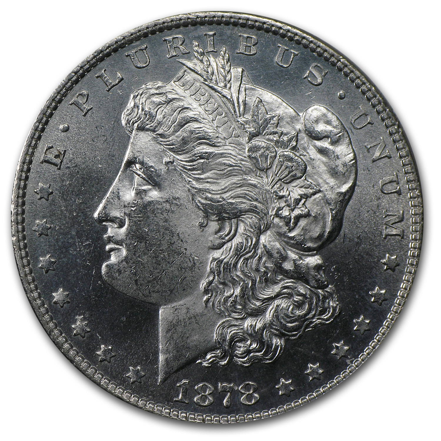 1878 Morgan Dollar 8 TF MS-63 (VAM-14.4, Concave Rev)