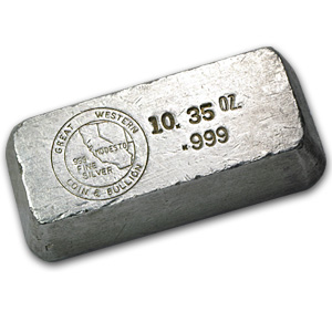 10.35 oz Silver Bars - Great Western Coin & Bullion