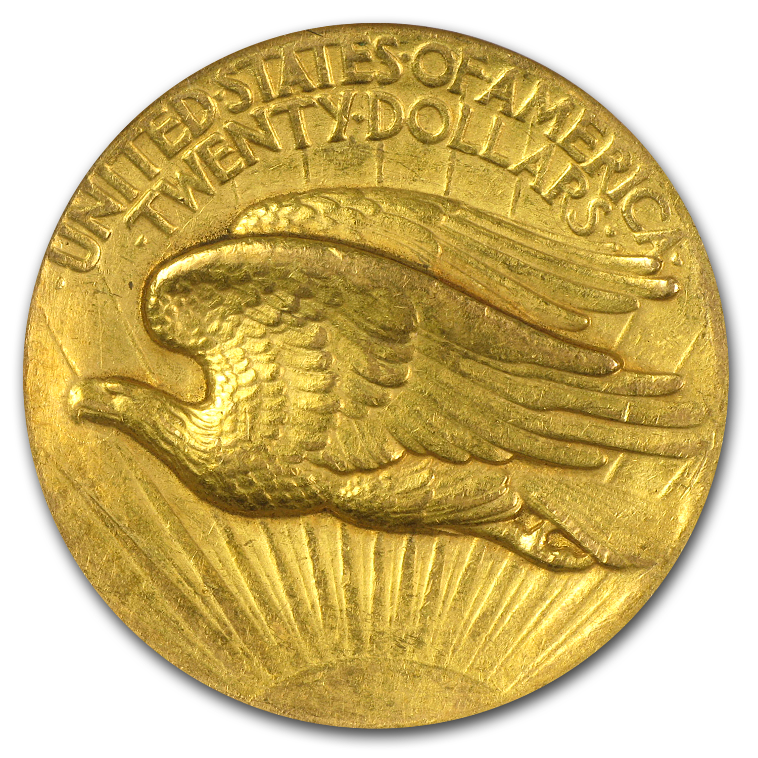 1907 $20 St. Gaudens Gold - High Relief Flat Rim - AU-58 NGC