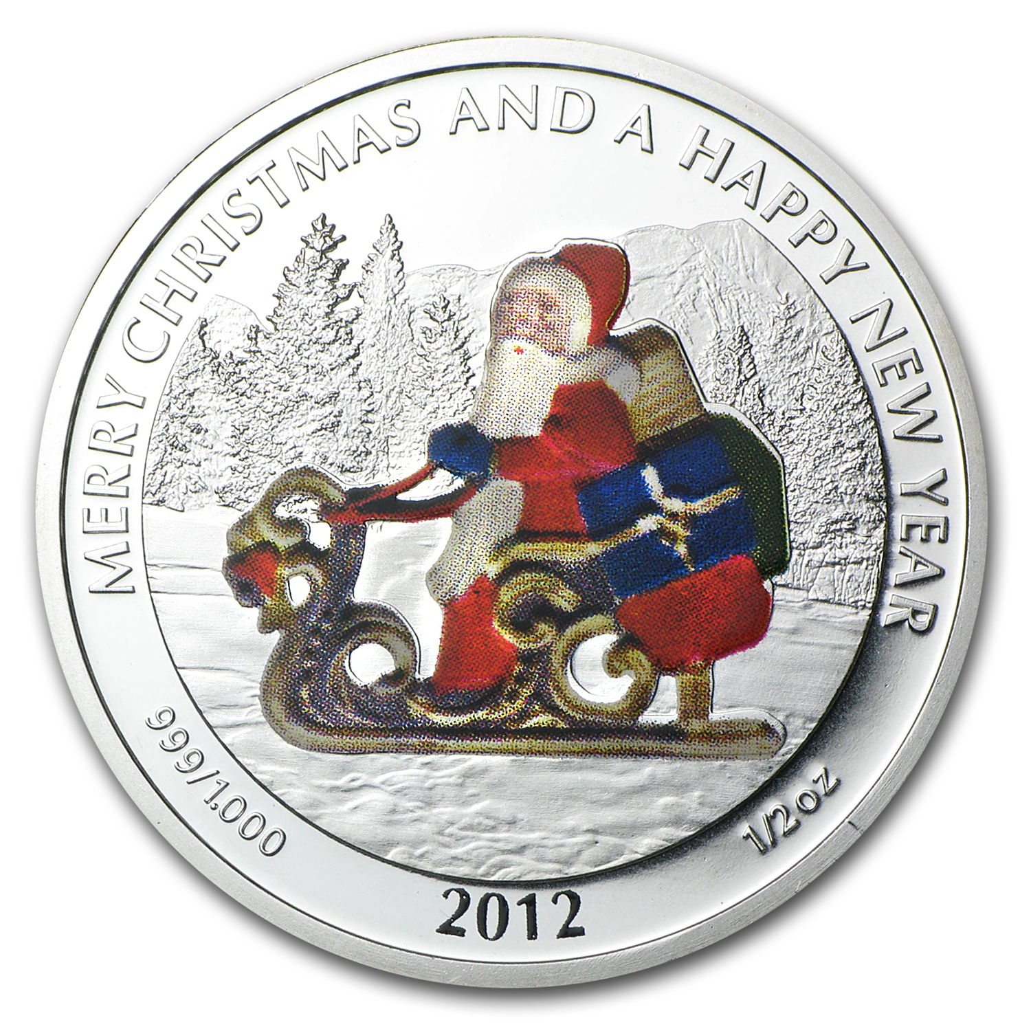 2012 Liberia 6-Coin 1/2 oz Silver Christmas Tree Set