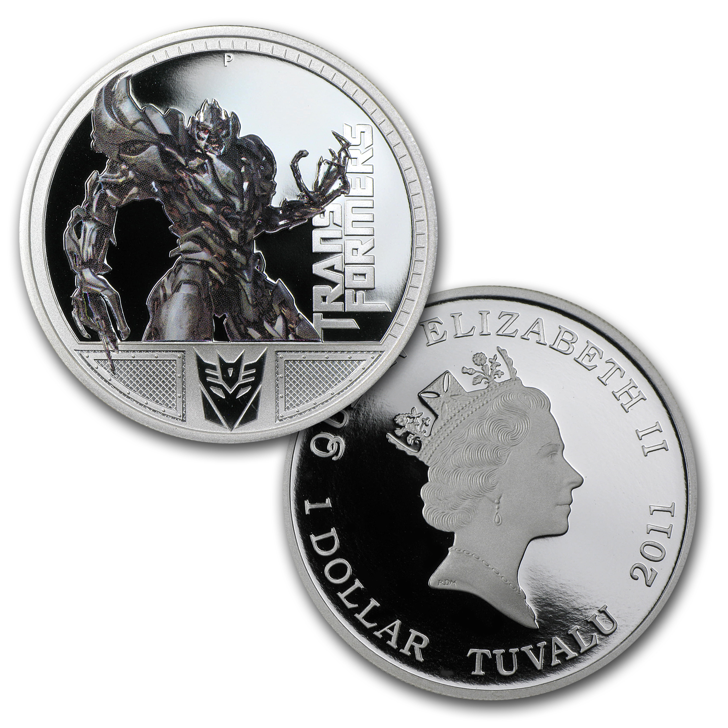 2009 2-Coin 1 oz Silver Megatron 1st & 2nd Transformers Pf Set