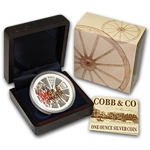2004 1 oz Silver Cobb & Co Proof (150th Anniversary 1854-2004)