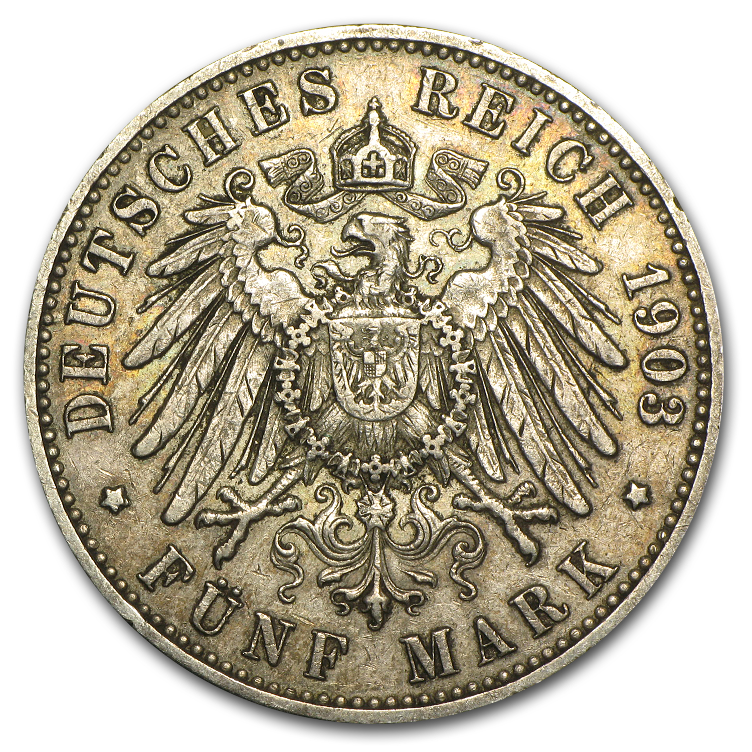 Hamburg Germany 1901-13 5 Mark EF or Better ASW .8037