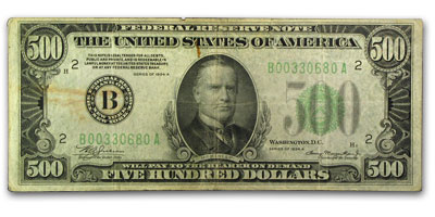 1934-A (B-New York) $500 FRN (Fine + )