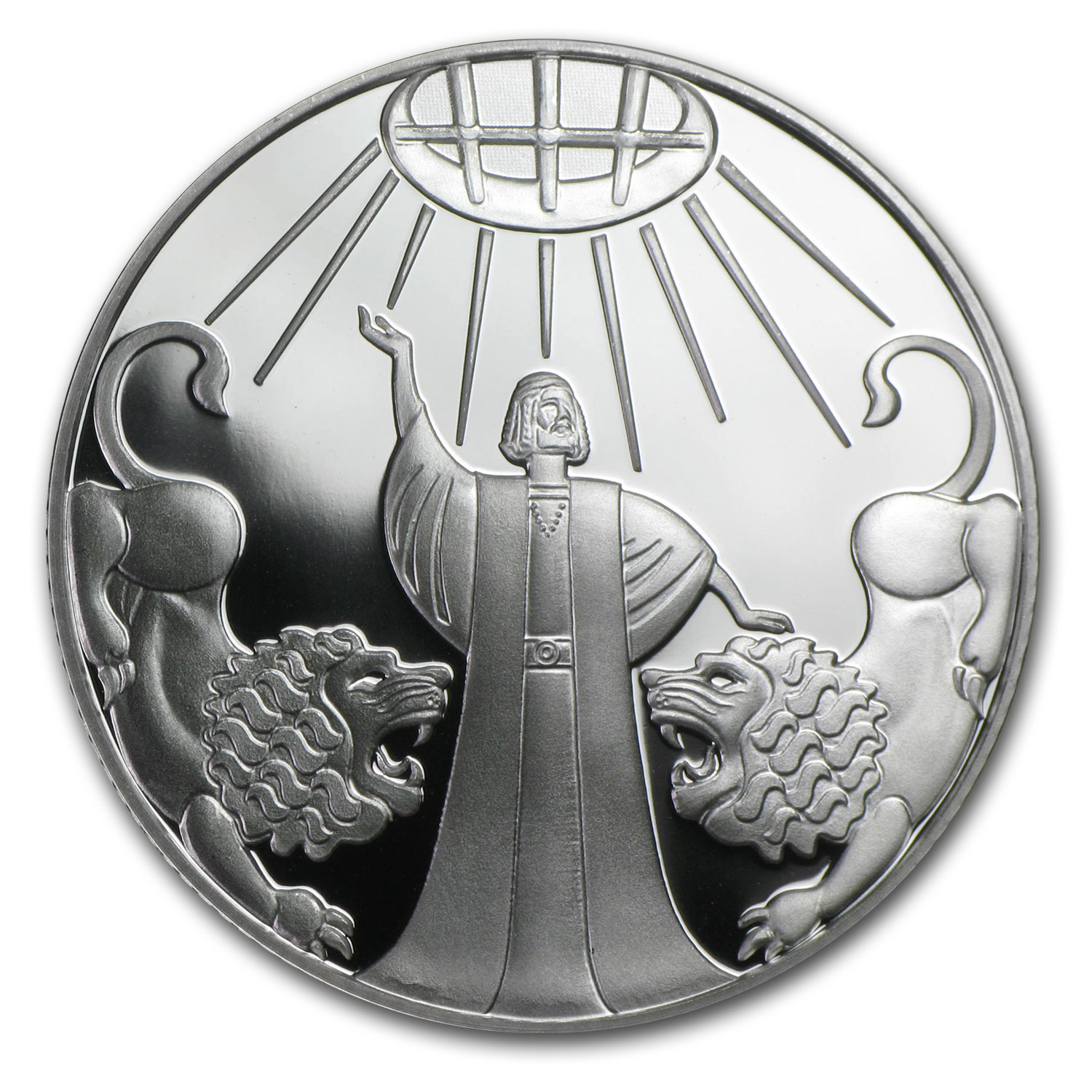 2012 Israel Silver 2 NIS Daniel in the Lion's Den Proof