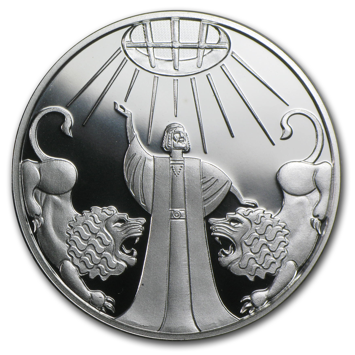 2012 Israel Silver 1 NIS Daniel in the Lion's Den Proof-Like