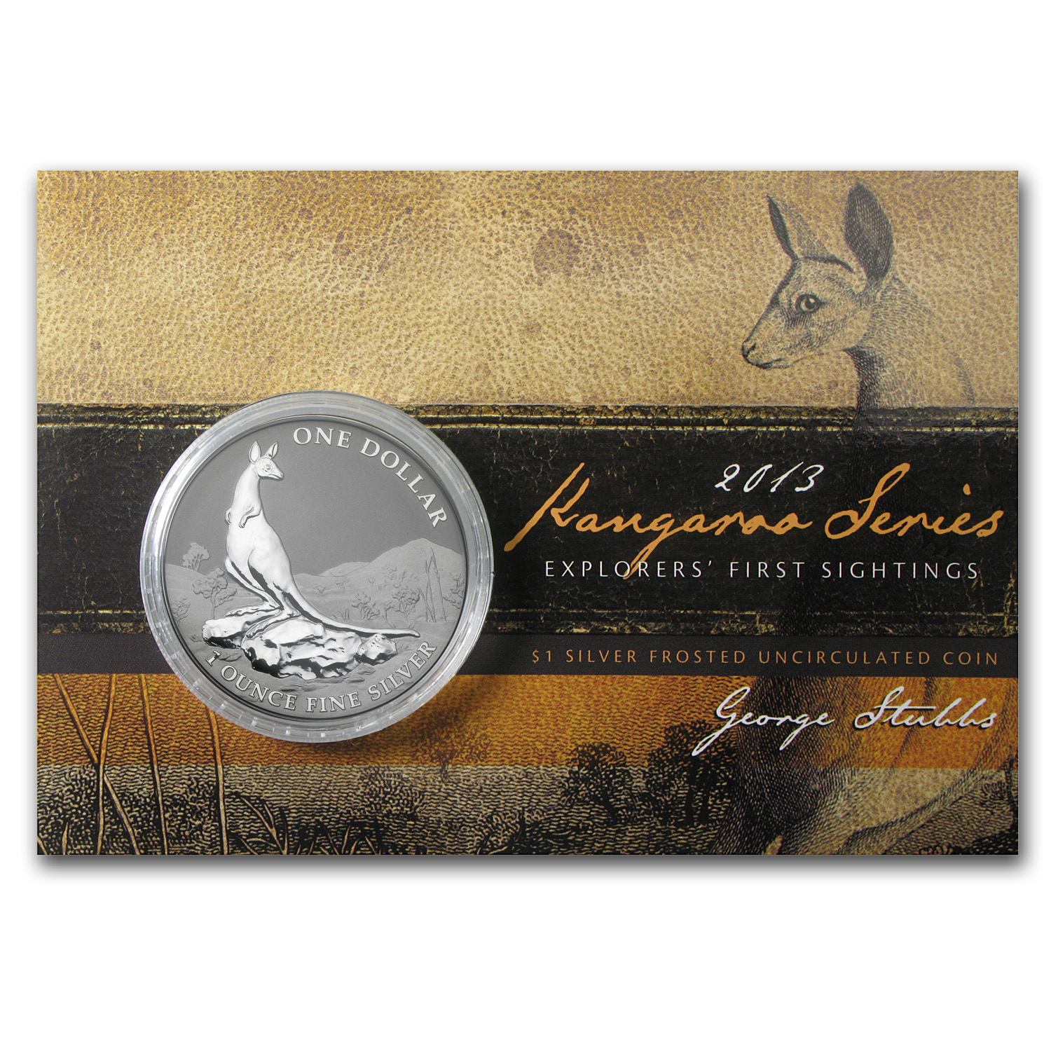 2013 Australia 1 oz Silver Kangaroo (In Display Card)
