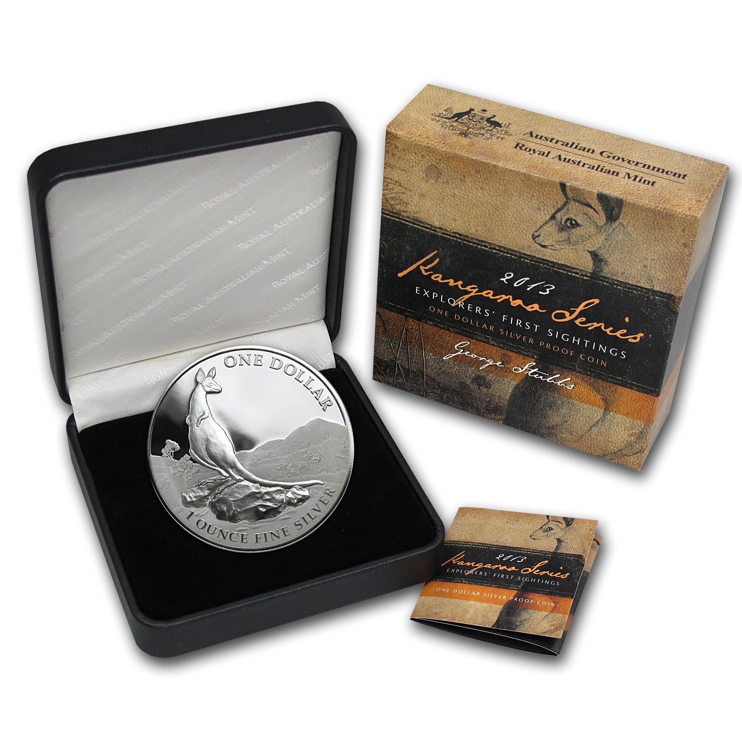 2013 Australia 1 oz Proof Silver Kangaroo (Box and COA)