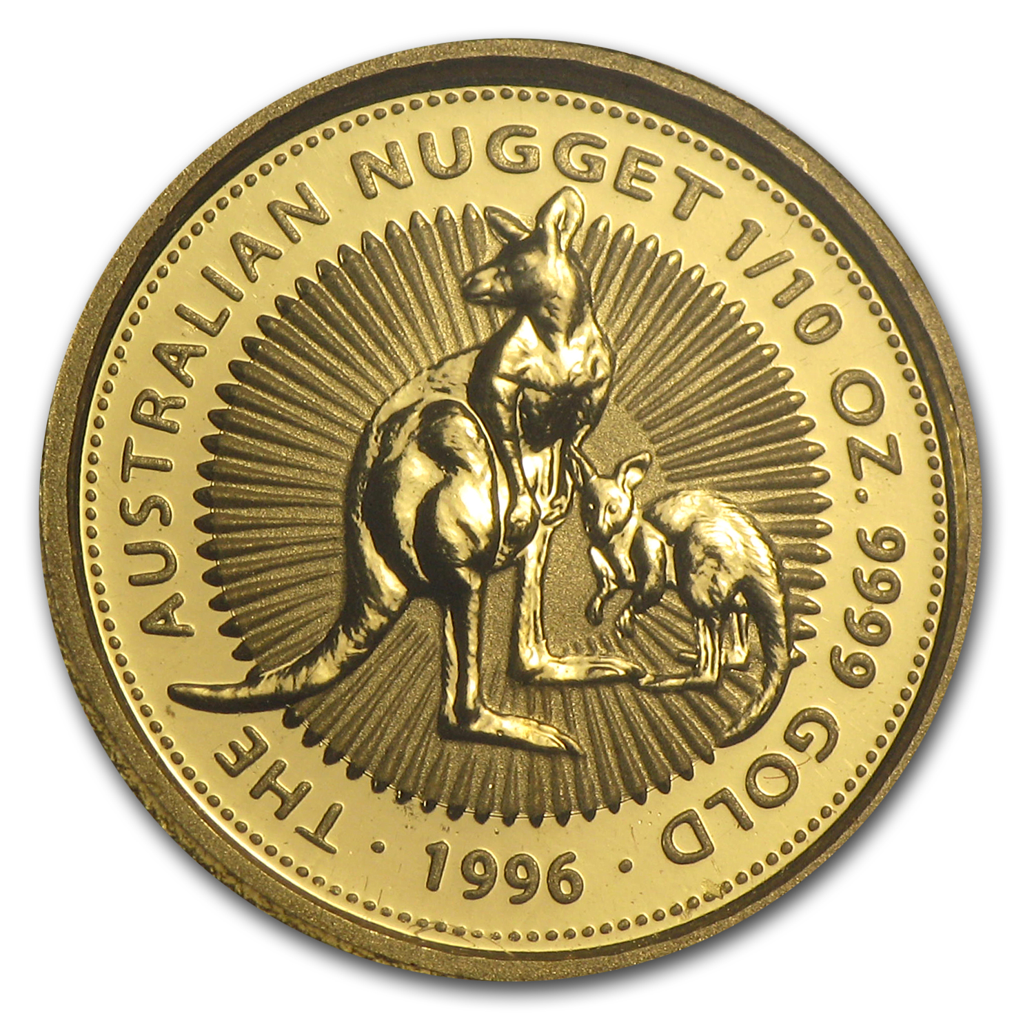 1996 Australia 1/10 oz Gold Nugget