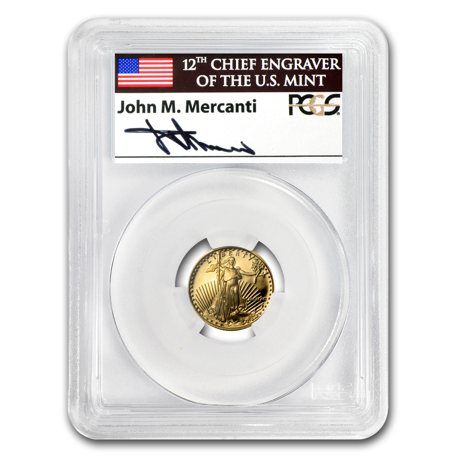 1990-P 1/10 oz Proof Gold American Eagle PR-69 PCGS John Mercanti