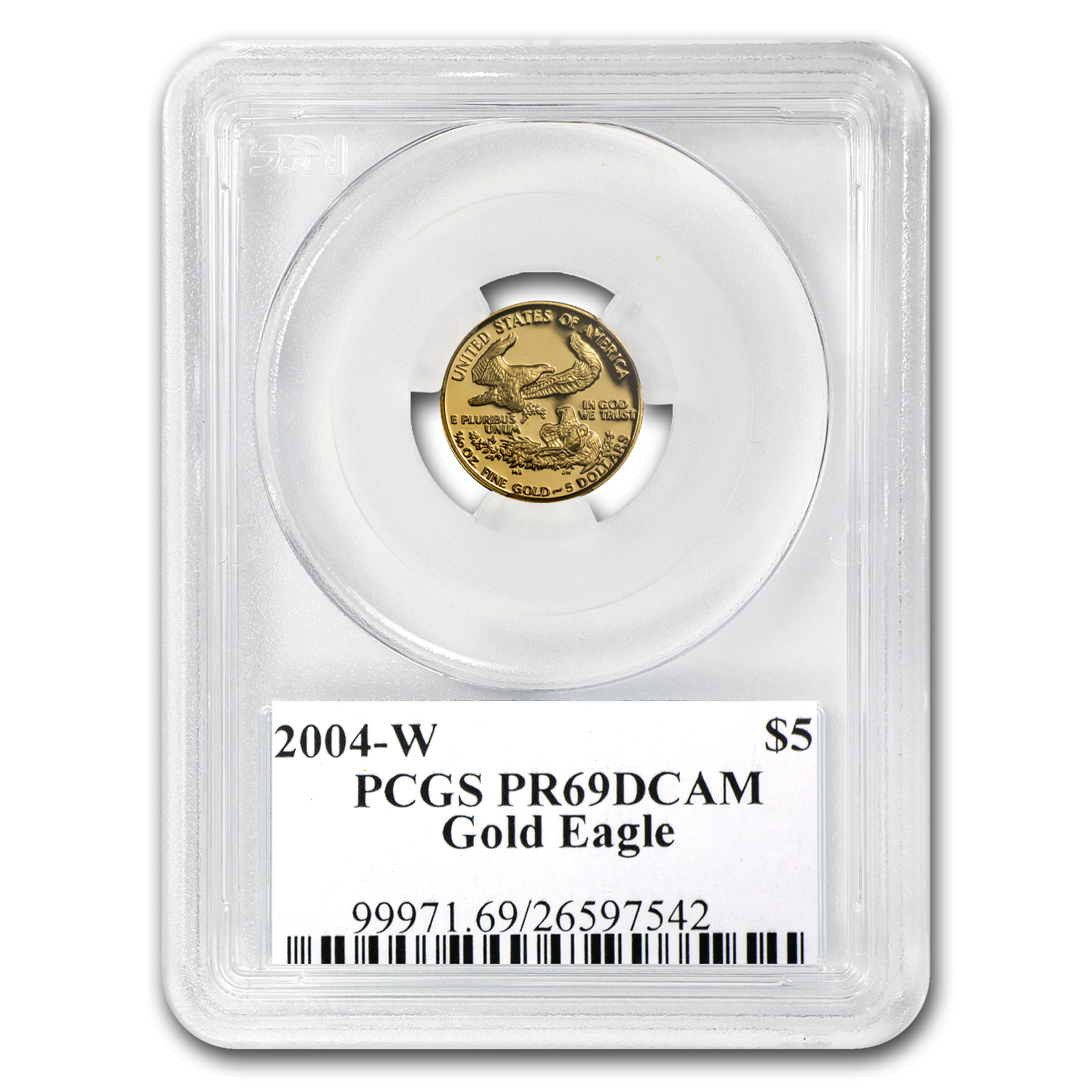 2004-W 1/10 oz Proof Gold American Eagle PR-69 PCGS John Mercanti