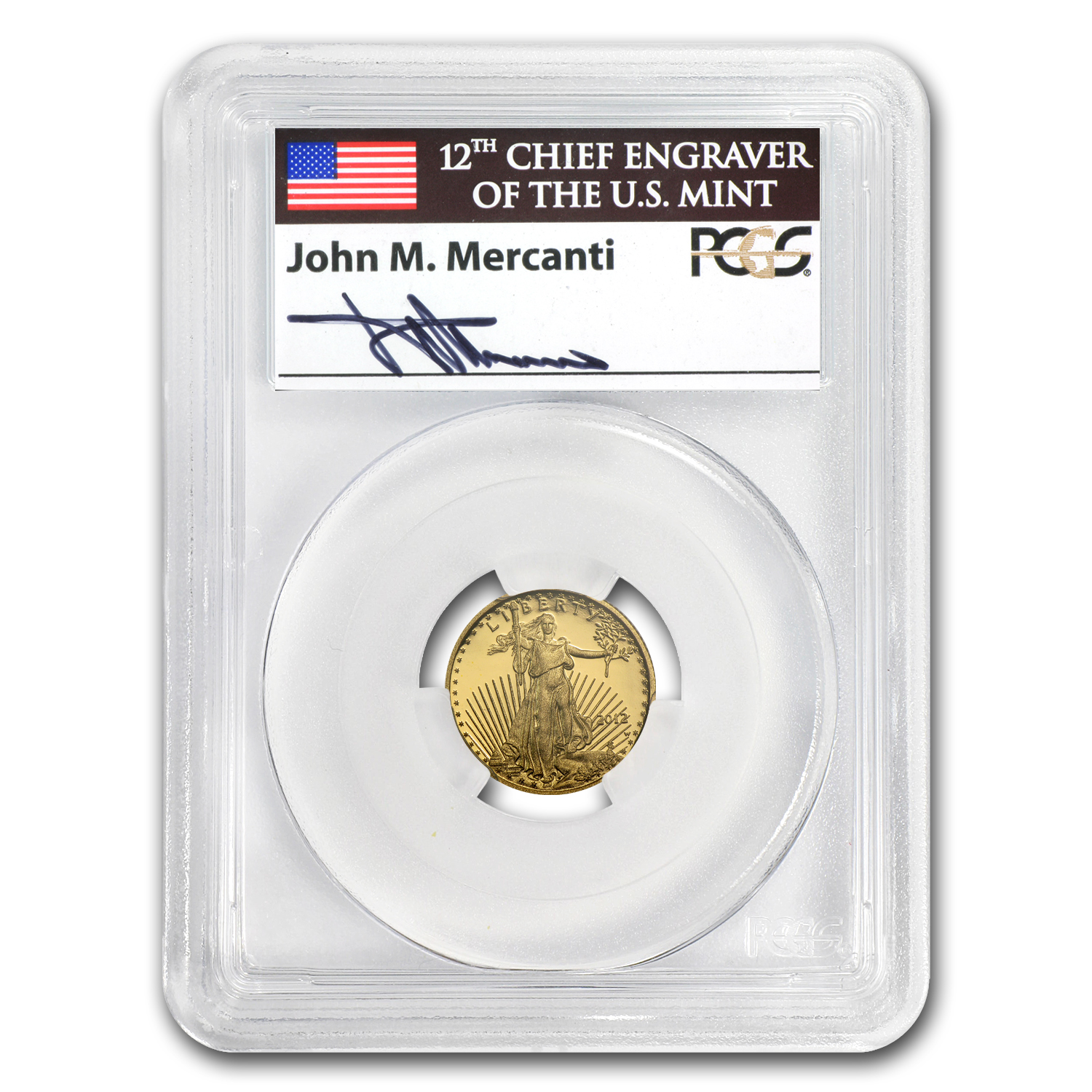 2012-W 1/10 oz Proof Gold American Eagle PR-69 PCGS John Mercanti