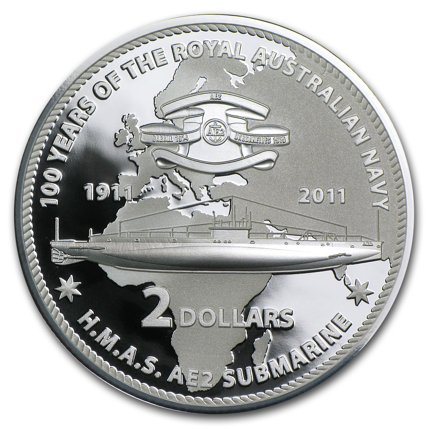 2011 Australia 6-Coin Silver 100 Years of the Navy Set