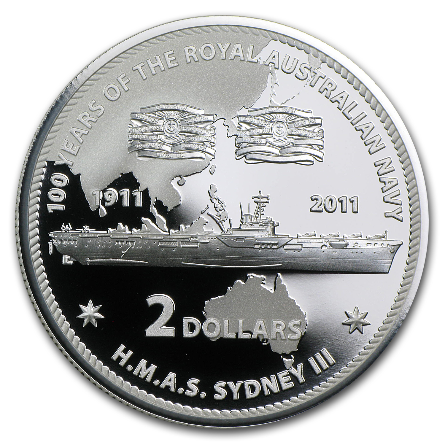 2011 Royal Australian Mint 100 Year of the Navy 6 Silver Coin Set