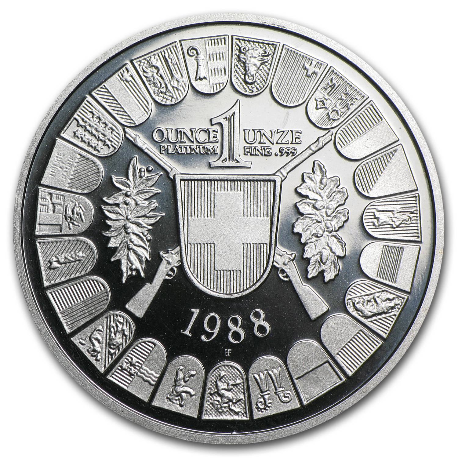 1988 Switzerland 1 oz Platinum Shooting Thaler Proof