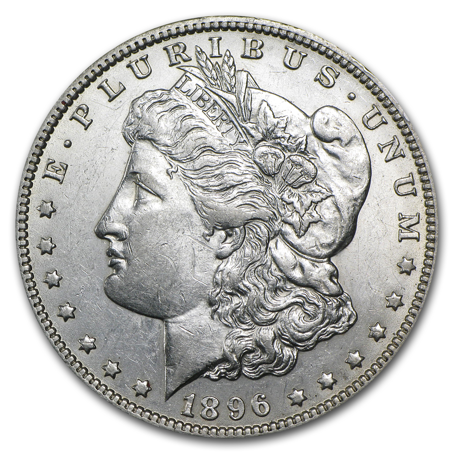 1896-O Morgan Dollar AU-58