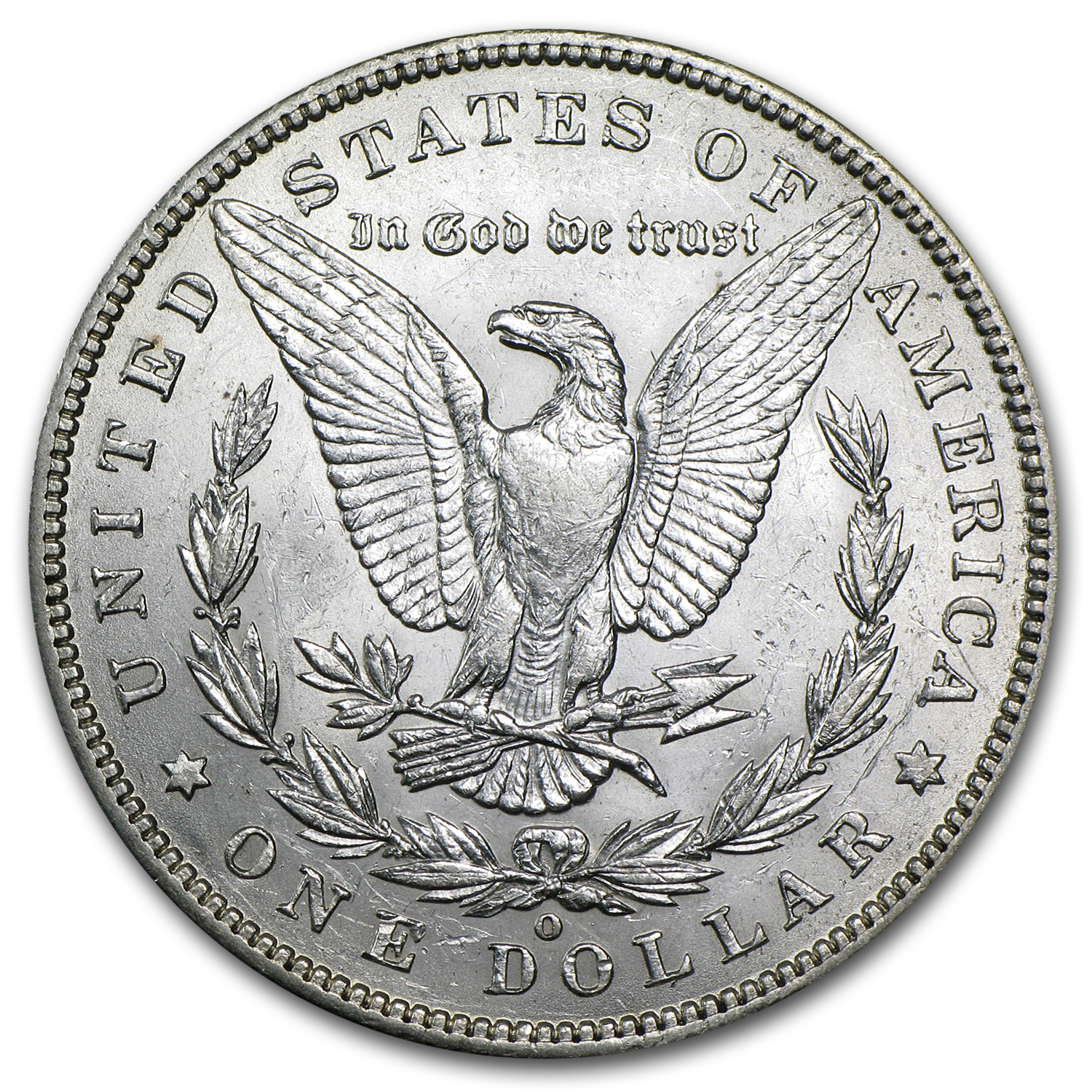 1896-O Morgan Dollar - Almost Uncirculated-58