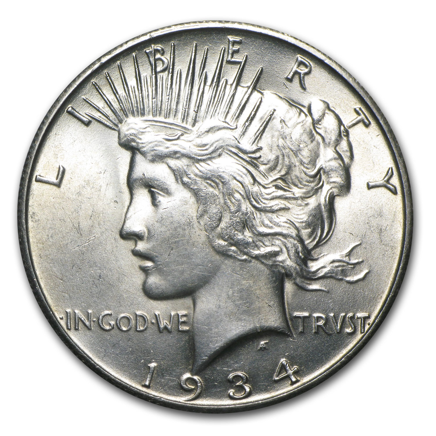 1934-S Peace Dollar - Brilliant Uncirculated