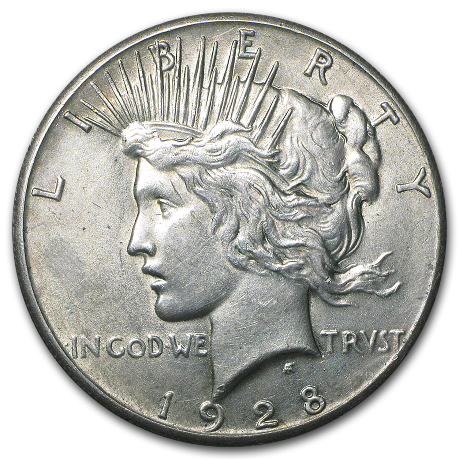 1928 Peace Dollar AU (Hairlines)