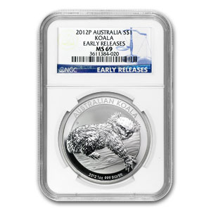 2012-P Australia 1 oz Silver Koala MS-69 NGC (Early Releases)