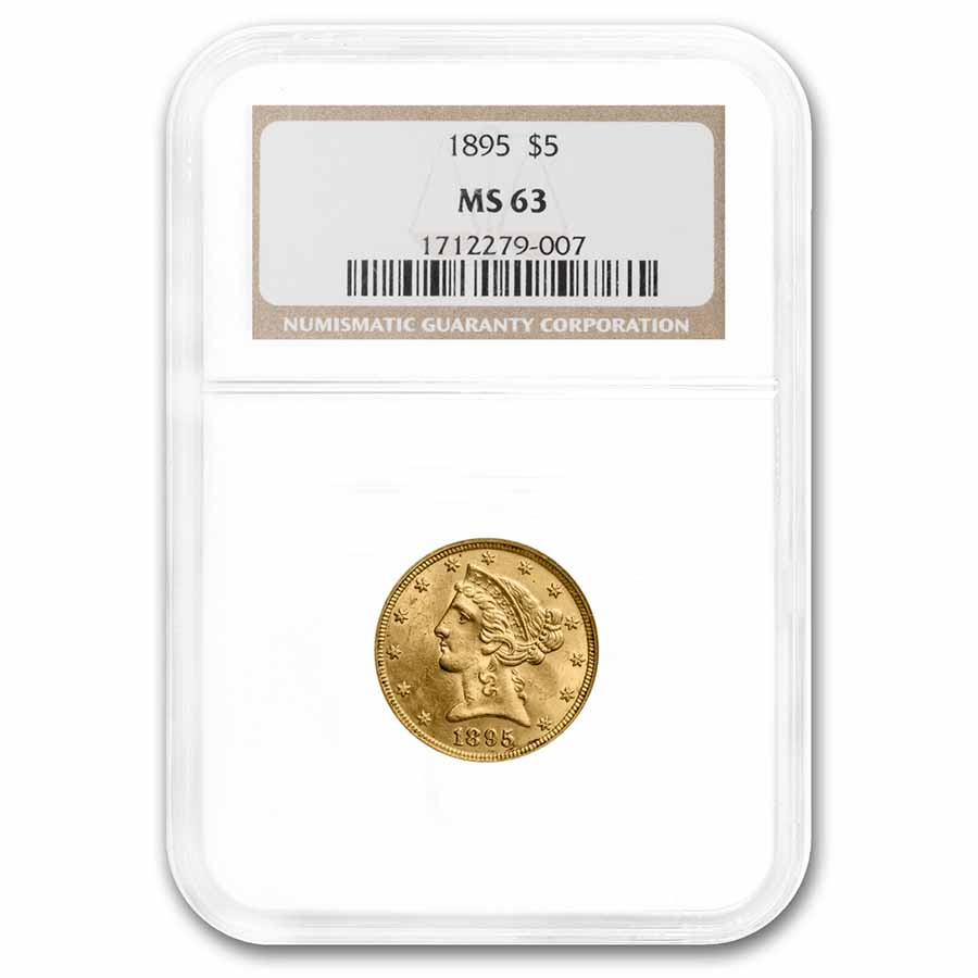 1895 $5 Liberty Gold Half Eagle MS-63 NGC