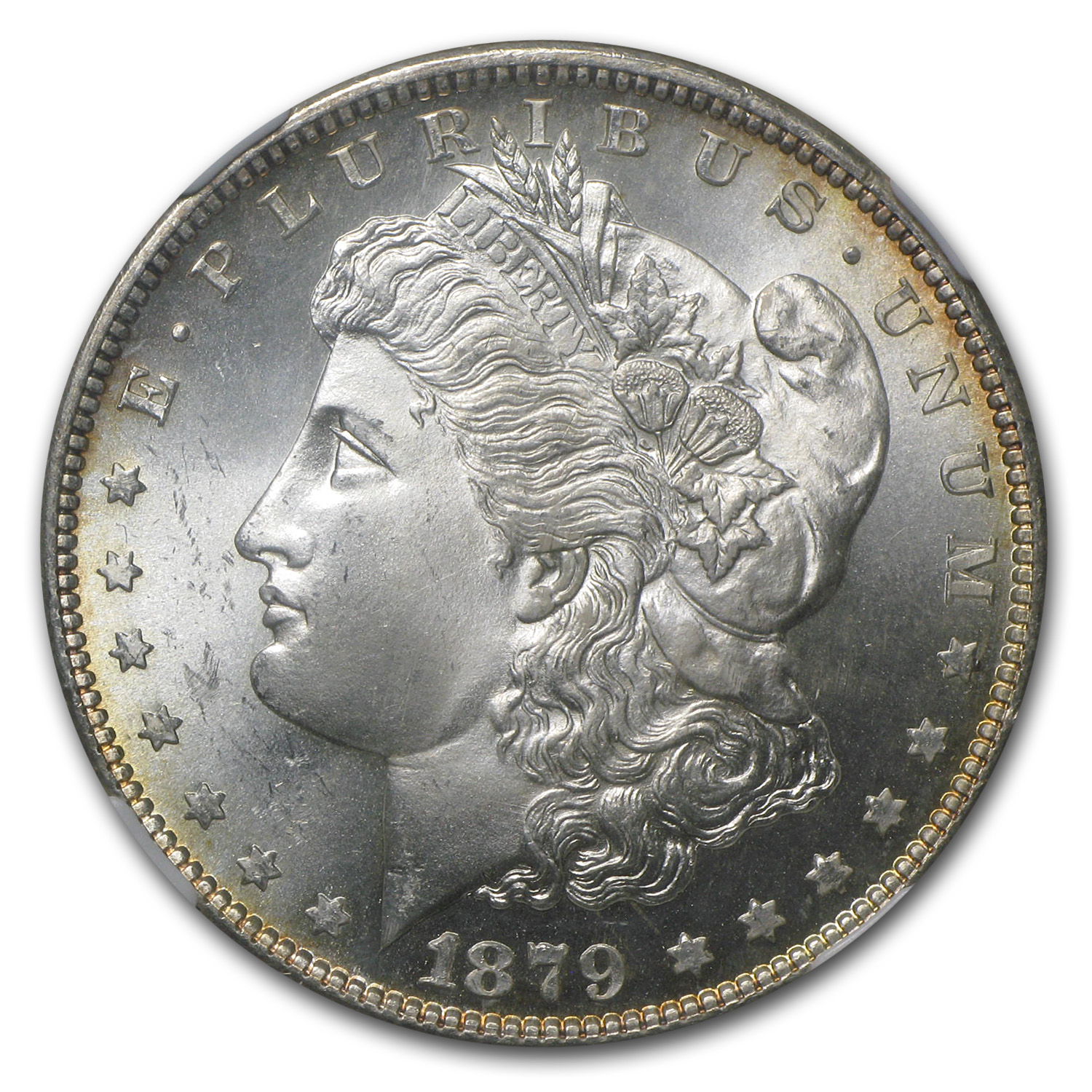 1878-1904 Morgan Dollars - MS-66 NGC - Toned Obverse or Reverse