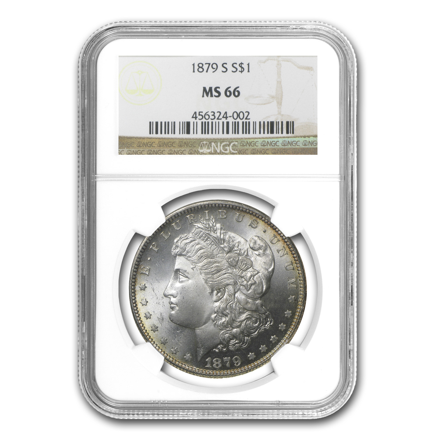 1878-1904 Morgan Dollars MS-66 NGC (Toned Obv/Rev or Both)