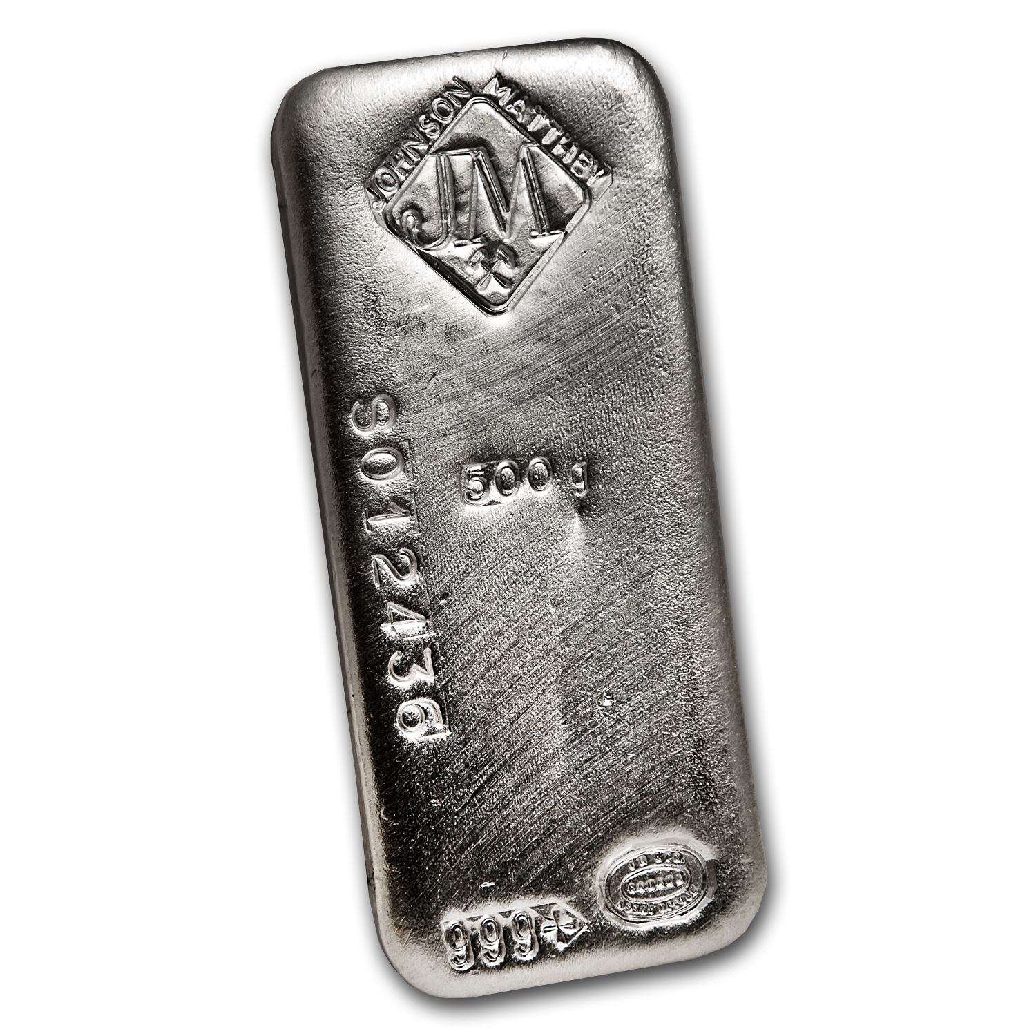 1/2 kilo Silver Bar - Johnson Matthey (Poured)