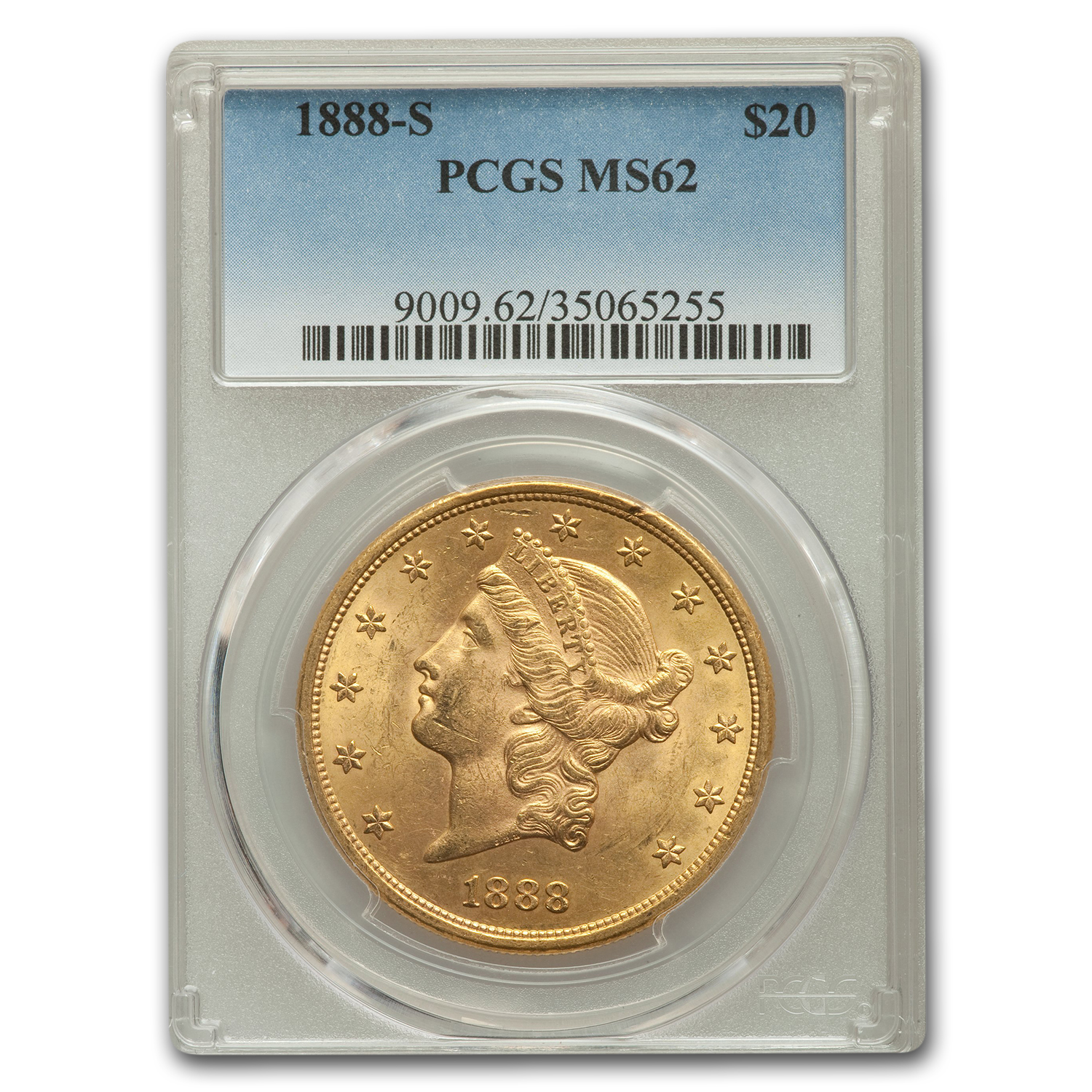 1888-S $20 Liberty Gold Double Eagle MS-62 PCGS