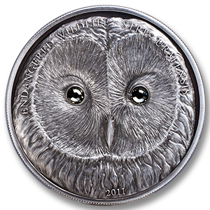 Mongolia 3-Coin Gulo Gulo, Ural Owl, Hedgehog Endangered Set