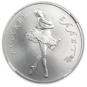 1989 1 oz Russian Palladium Ballerina (MS-66 NGC)