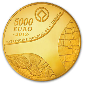 2012 1 kilo Proof Gold €5000 Egyptian Heritage Abu Simbel