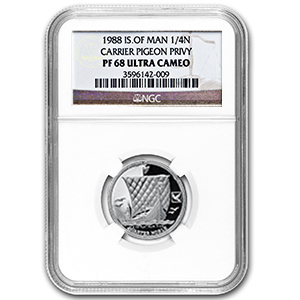 1988 1/4 oz Isle of Man Platinum Noble (PF-68 UCAM NGC)
