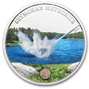 2012 Cook Islands Proof Silver $5 Seymchan Meteorite