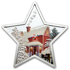 2012 Samoa Proof Silver $5 Merry Christmas Star