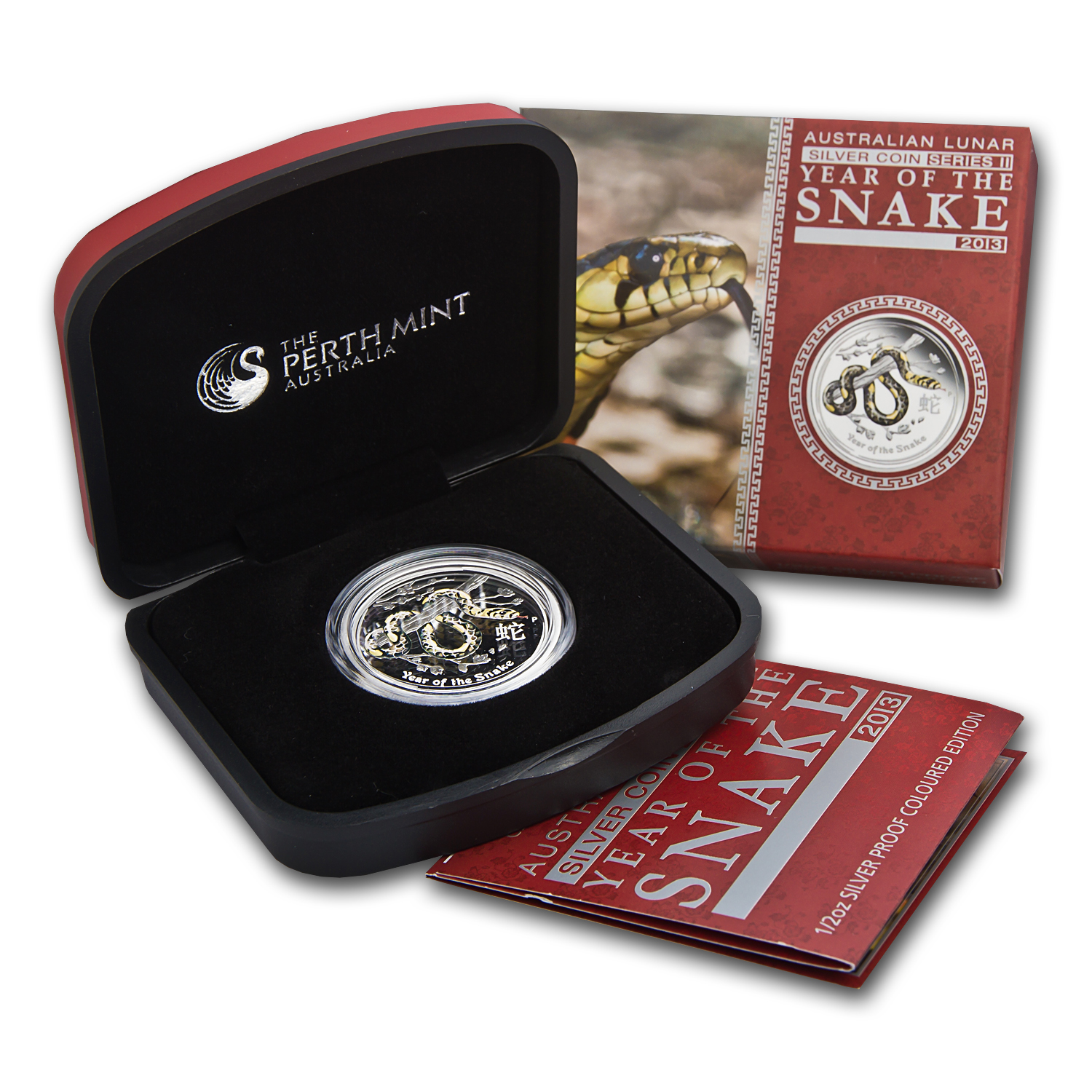2013 1/2 oz Silver Year of the Snake Proof Colorized Coin