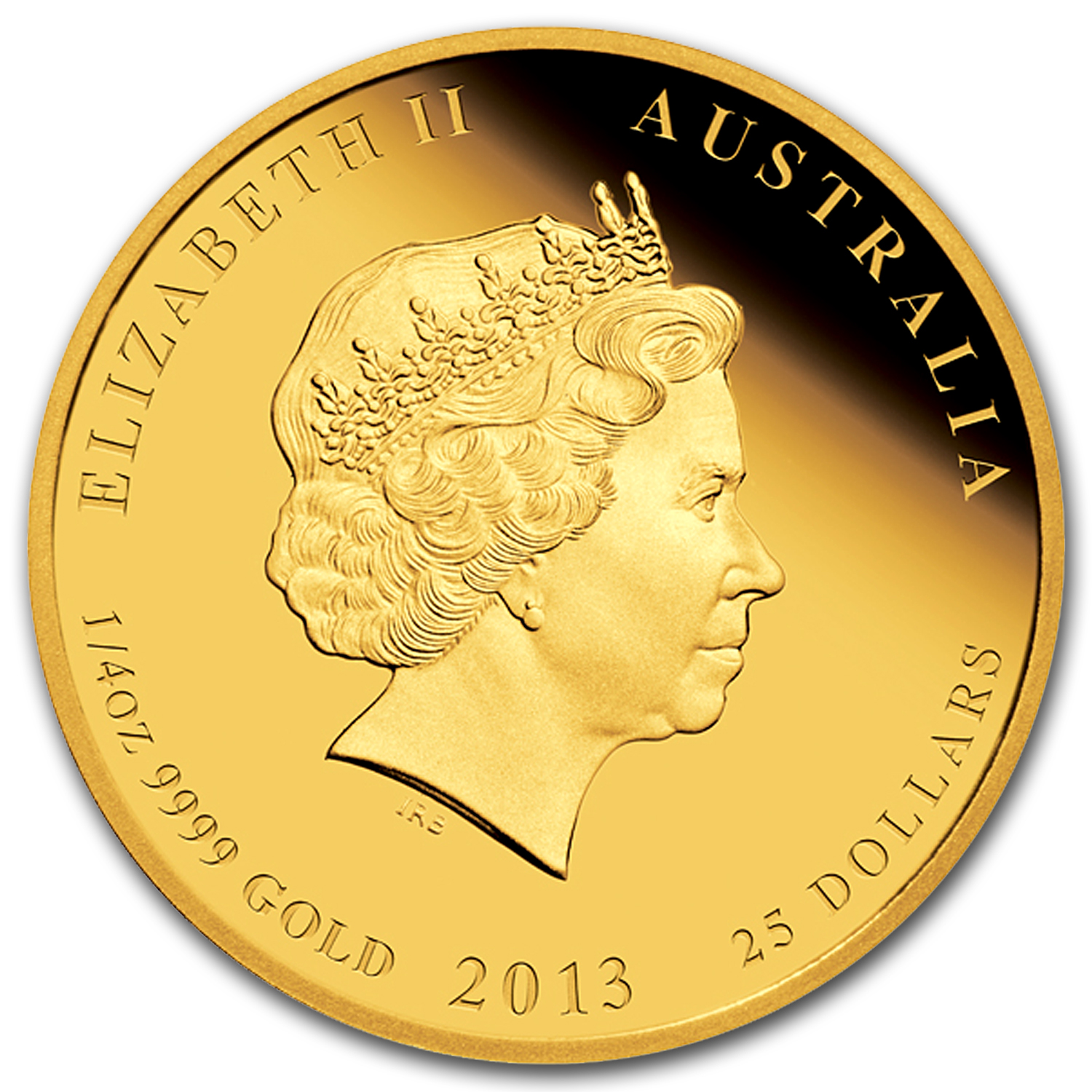 2013 Australia 1/4 oz Gold Lunar Snake Proof (SII, Colorized)