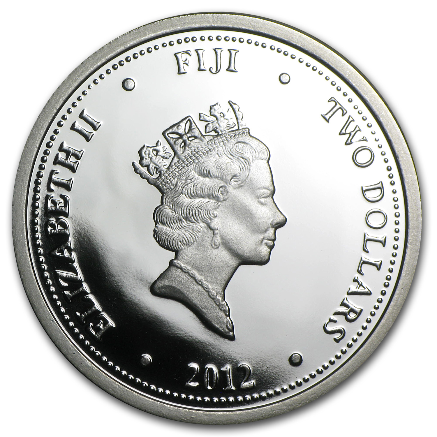 2012 1 oz Silver Fiji $2 Taku & Baby Proof (Gilded, In Water Box)