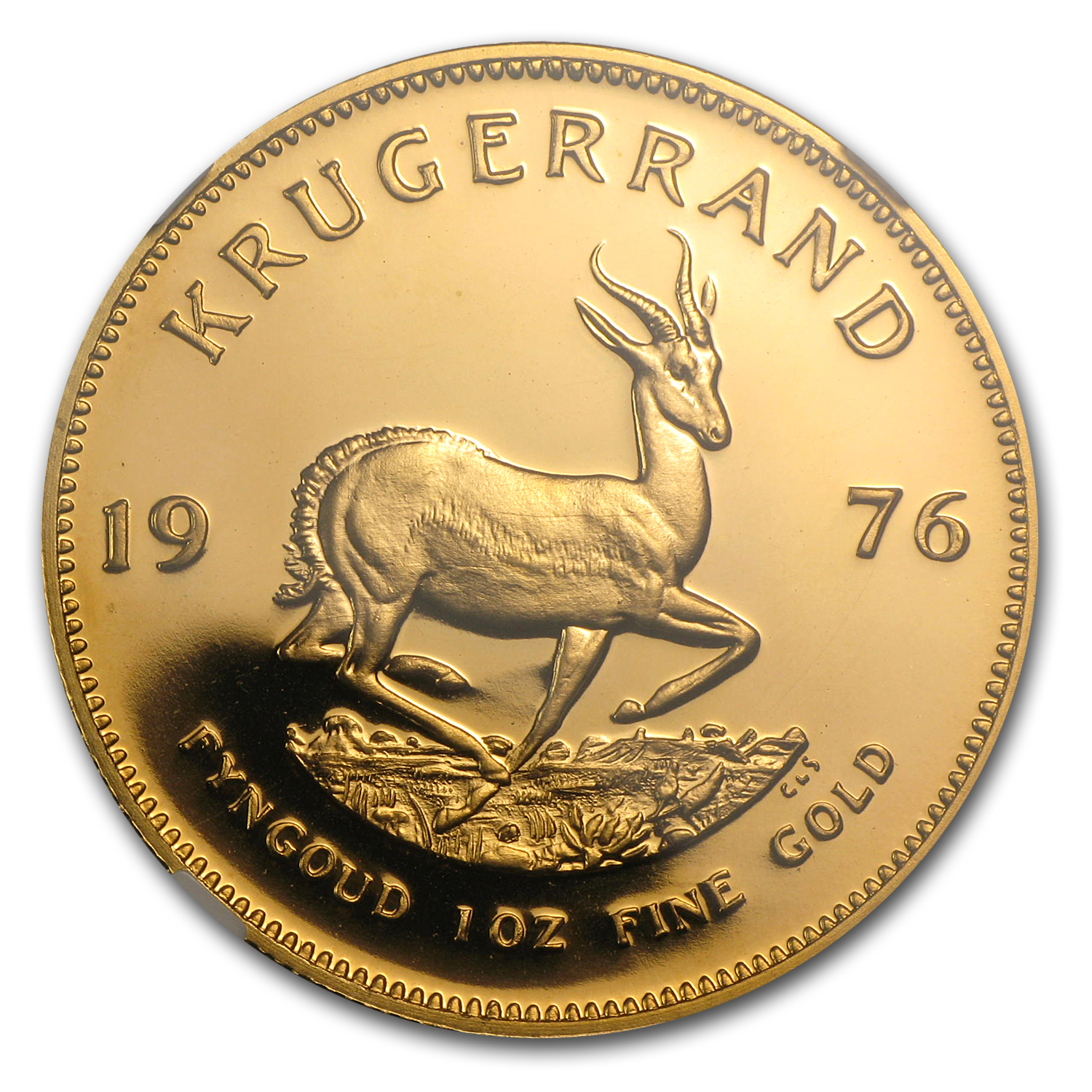 1976 South Africa 1 oz Gold Krugerrand PF-67 Cameo NGC