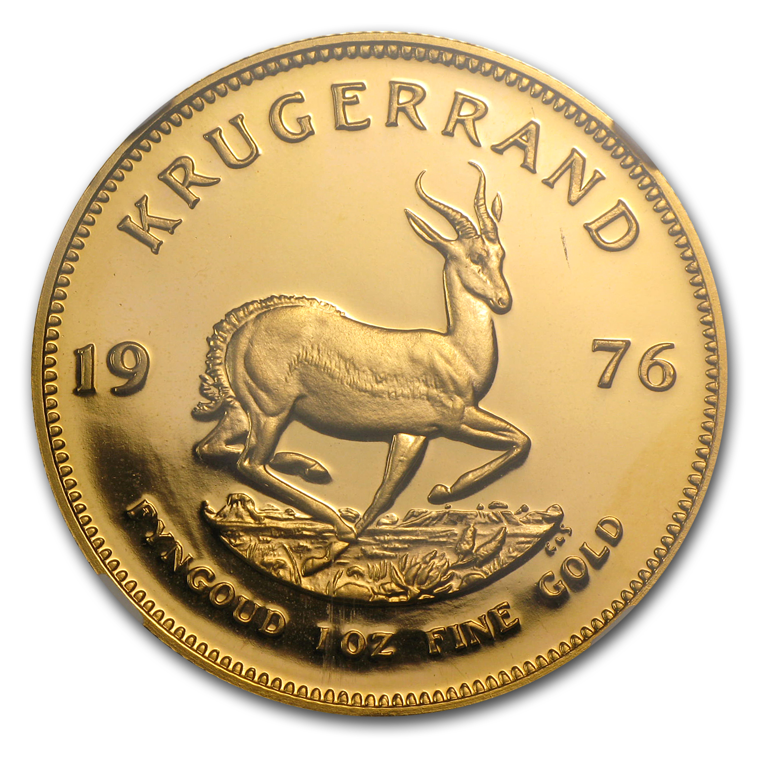 1976 1 oz Gold South African Krugerrand PF-67 NGC